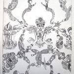 Damask, Etching
